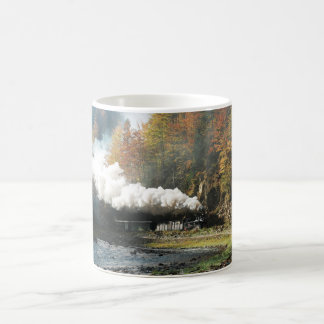 Romania Steam Train in Forest Coffee Mug
