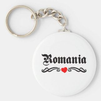 Romania Tattoo Style Key Ring