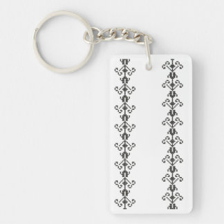 romania traditional motif folk pattern genuine sym key ring
