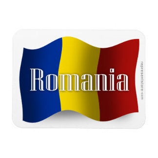 Romania Waving Flag Magnet