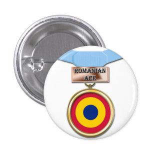Romanian Ace medal button
