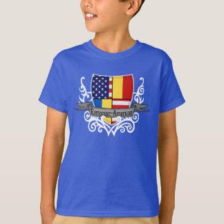 Romanian-American Shield Flag T-Shirt