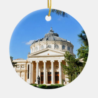 Romanian Athenaeum in Bucharest, Romania Christmas Ornament
