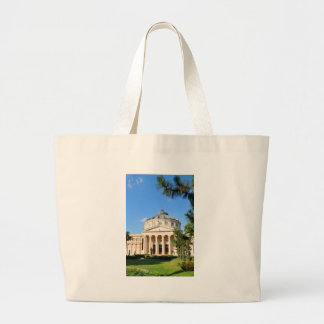 Romanian Athenaeum in Bucharest, Romania Large Tote Bag