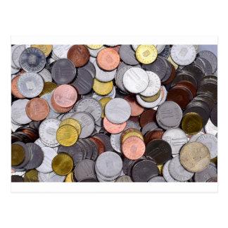 romanian coins postcard