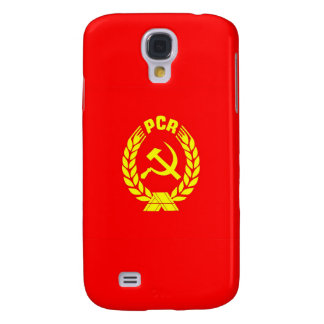 romanian communist party flag case pcr ceausescu galaxy s4 cover