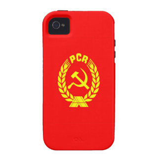 romanian communist party flag case pcr ceausescu case for the iPhone 4