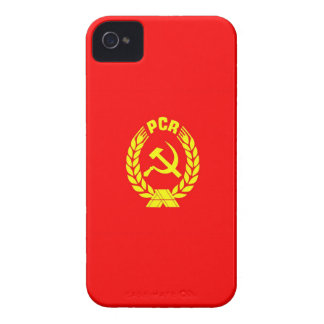 romanian communist party flag case pcr ceausescu iPhone 4 cover