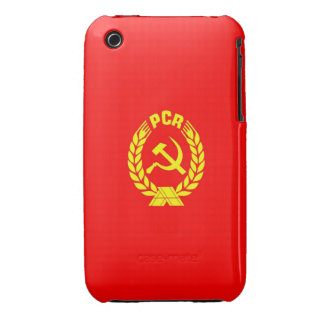 romanian communist party flag case pcr ceausescu iPhone 3 covers