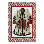 Romanian craft, embroidered coat 1 poster