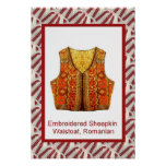 Romanian craft, embroidered waistcoat poster