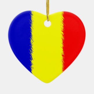Romanian Flag Christmas Ornament