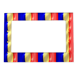 Romanian Flag Magnetic Picture Frame