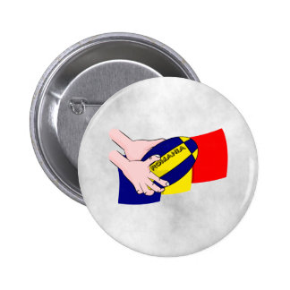 Romanian Flag Romania Rugby Supporters 6 Cm Round Badge