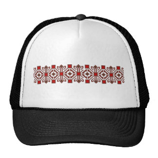 romanian folk costume stitch geometric floral art cap