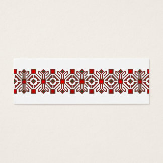 romanian folk costume stitch geometric floral art mini business card