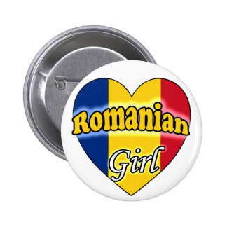 Romanian Girl 6 Cm Round Badge