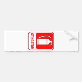 romanian language text fire extinguisher danger bumper sticker