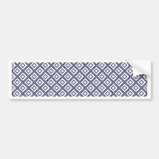 romanian popular costume folklore stitch geometric bumper sticker