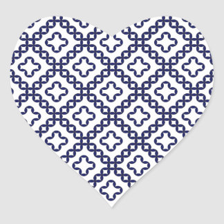 romanian popular costume folklore stitch geometric heart sticker