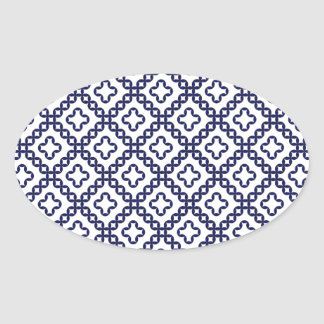 romanian popular costume folklore stitch geometric oval sticker