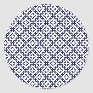 romanian popular costume folklore stitch geometric round sticker