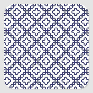 romanian popular costume folklore stitch geometric square sticker