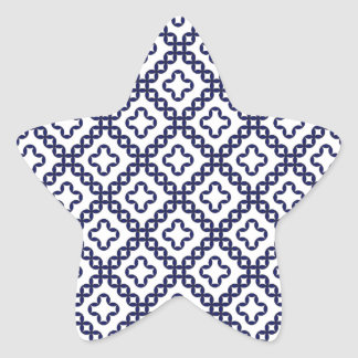 romanian popular costume folklore stitch geometric star sticker