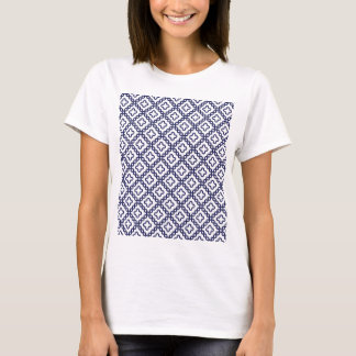 romanian popular costume folklore stitch geometric T-Shirt