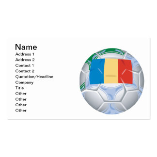 Romanian Soccer Ball Double-Sided Standard Business Cards (Pack Of 100)