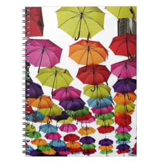 Romanian Umbrellas Spiral Notebook