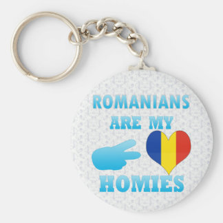 Romanians are my Homies Basic Round Button Key Ring