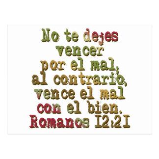 Romanos 12:21 post cards