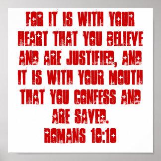 Romans 10:10  POSTER