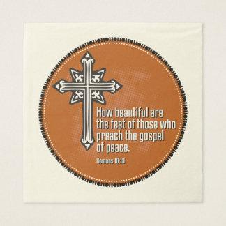 Romans 10:15 Cocktail Napkins Paper Napkins