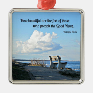 Romans 10:15 How beautiful are the feet... Christmas Ornament