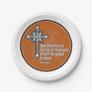 Romans 10:15 Paper plates