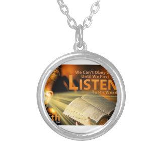 Romans 10:17 personalized necklace