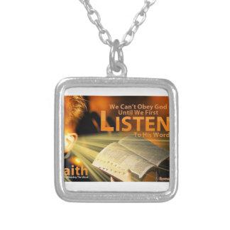 Romans 10:17 custom necklace