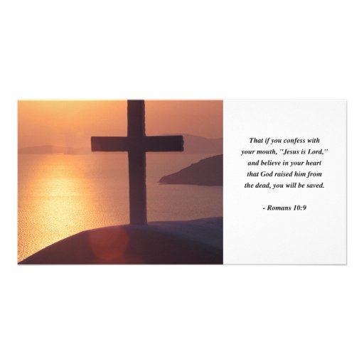 ROMANS 10:9 PERSONALIZED PHOTO CARD