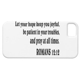 ROMANS 12:12 Bible verse. Barely There iPhone 5 Case