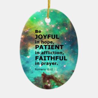 Romans 12:12 christmas ornament