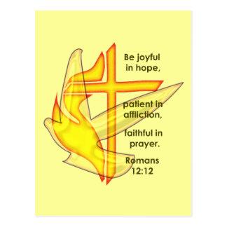 Romans 12:12 postcard