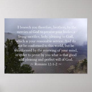 Romans 12:1-2 Poster