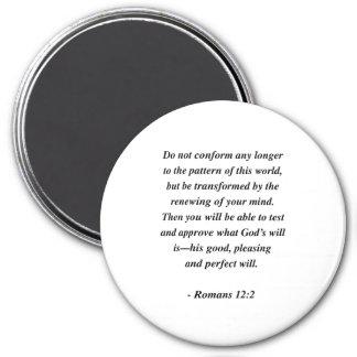 ROMANS 12:2 7.5 CM ROUND MAGNET