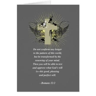 ROMANS 12:2 Bible Verse Card
