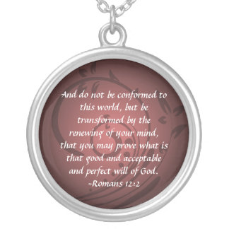 Romans 12:2 Christian Bible Verse Pendant