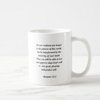 ROMANS 12:2 COFFEE MUG