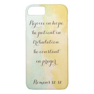 Romans 12: Bible Verse Quote Watercolor iPhone 7 Case