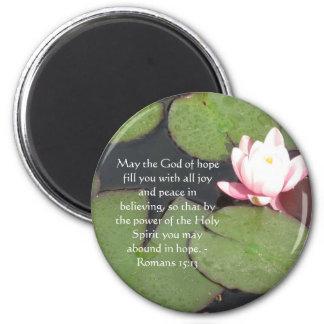 Romans 15:13  Inspirational Bible Verses Refrigerator Magnet